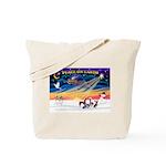 XmasSunrise/4 Cresteds Tote Bag