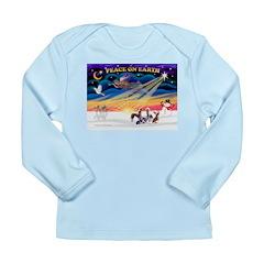 XmasSunrise/4 Cresteds Long Sleeve Infant T-Shirt