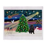 XmasMagic/ Shar Pei Throw Blanket