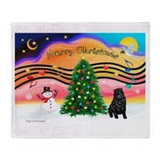 XmasMusic2/Shar Pei Throw Blanket