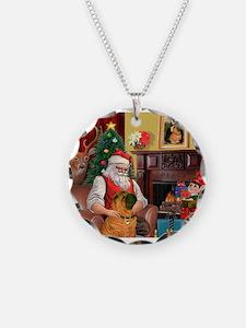 Santa's Shar Pei Necklace