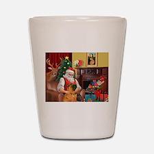 Santa's Shar Pei Shot Glass