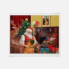 Santa's Shar Pei Throw Blanket