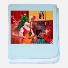 Santa's Shar Pei baby blanket