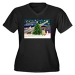 Christmas Magic & Shar Pei #2 Women's Plus Size V-