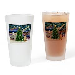 Christmas Magic & Shar Pei #2 Drinking Glass