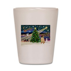 Christmas Magic & Shar Pei #2 Shot Glass