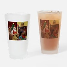 Santa's Chow Chow Drinking Glass
