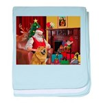 Santa's Chow Chow baby blanket