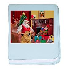 Santa's Chow Chow baby blanket