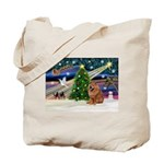 Xmas Magic & Chow Tote Bag