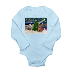 Xmas Magic & Chow Long Sleeve Infant Bodysuit