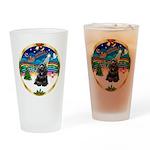 XmasMusic r (blk) #13/Cocker Drinking Glass