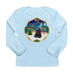 XmasMusic r (blk) #13/Cocker Long Sleeve Infant T-