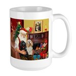 Santa's 2 Cockers Large Mug