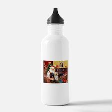 Santa's 2 Cockers Water Bottle