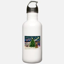 XmasMagic/Cocker (Brn) Water Bottle