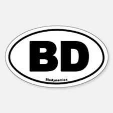 BD Oval Decal