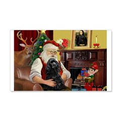 Santa's Black Cocker 22x14 Wall Peel