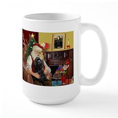 Santa's Black Cocker Large Mug