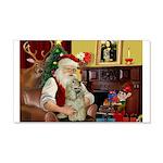 Santa's Buff Cocker 22x14 Wall Peel