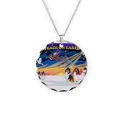 XmasSunrise/2 Collies Necklace