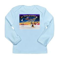 XmasSunrise/2 Collies Long Sleeve Infant T-Shirt