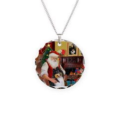 Santa's Collie (t) Necklace