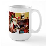 Santa's Collie (t) Large Mug