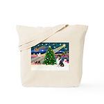 Xmas Magic & Collie Tote Bag