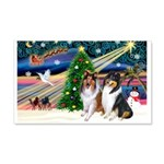 Xmas Magic & Collie 22x14 Wall Peel