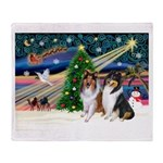 Xmas Magic & Collie Throw Blanket