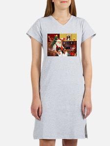 Santa's Collie pair Women's Nightshirt