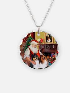 Santa's Collie pair Necklace