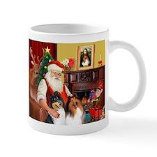 Santa's Collie pair Mug