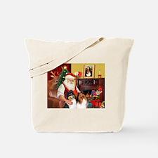 Santa's Collie pair Tote Bag