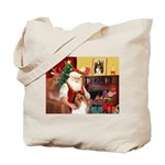 Santa's Collie Tote Bag