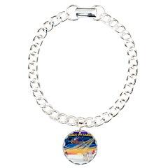 XmasSunrise/2 Cotons Bracelet