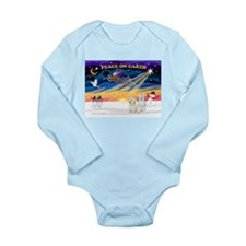 XmasSunrise/2 Cotons Long Sleeve Infant Bodysuit