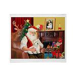 Santa's Coton de Tulear Throw Blanket