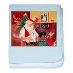 Santa's Coton de Tulear baby blanket