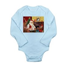 Santa's Coton de Tulear Long Sleeve Infant Bodysui