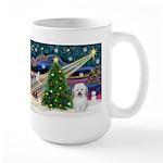 Xmas Magic & Coton De Tulear Large Mug