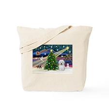 Xmas Magic & Coton De Tulear Tote Bag