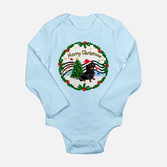 XmasMusic1/Dachshund #17 Long Sleeve Infant Bodysu