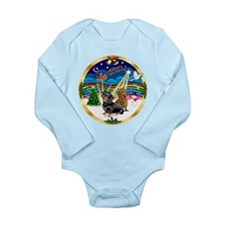 XmasMusic 3/2 Dachshunds Long Sleeve Infant Bodysu