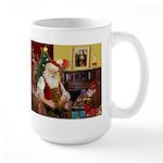 Santa's Dachshund (b) Large Mug