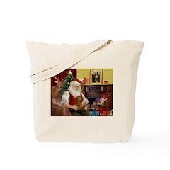 Santa's Dachshund (b) Tote Bag