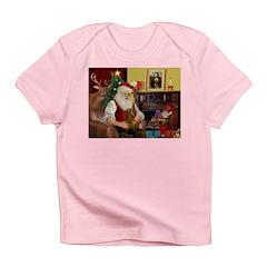 Santa's Dachshund (b) Infant T-Shirt