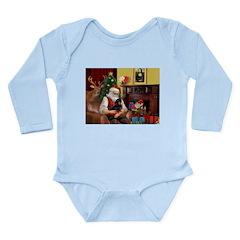 Santa's Dachshund (BT) Long Sleeve Infant Bodysuit